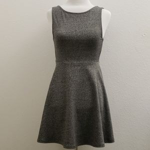 Divided Space Gray Open Back Fit and Flare DressD2